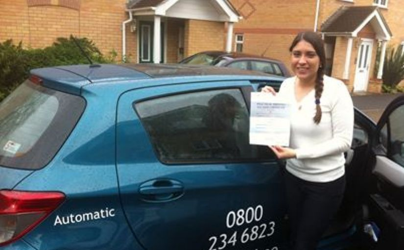 Well done Christine Held on passing her practical test yesterday in Reading