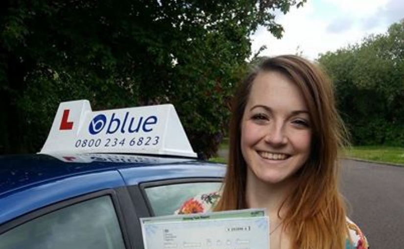 Very well done to Mia from Wokingham who passed her driving test in Reading
