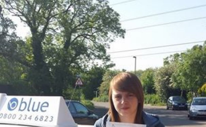 Congratulations Megan on passing your driving test today at Chertsey