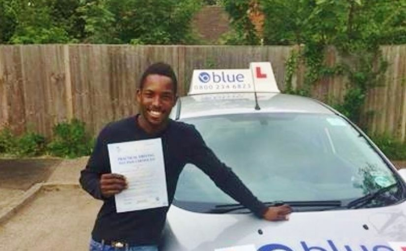 Well done to Tanaka from Harmans Water (Bracknell) for passing his driving test