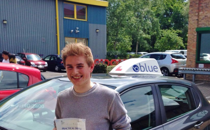 Perfect result for Blake of Ascot, Berkshire who passed his driving test First Time with just ONE driver fault