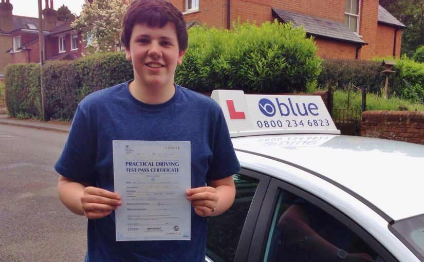 Great result for Archie Luckhurst, of Chavey Down, Ascot who passed his driving test