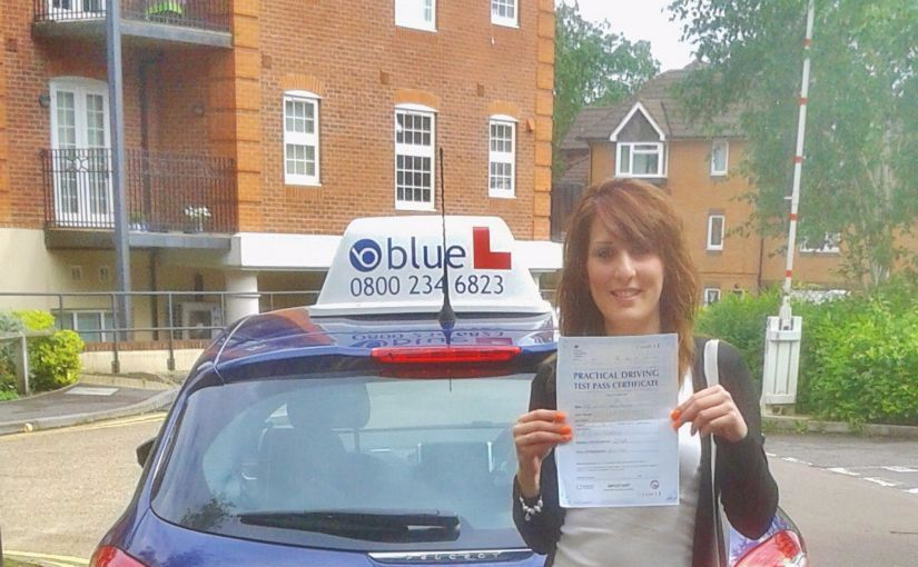 A nice result for Nicole from Farnborough for passing her driving test first time