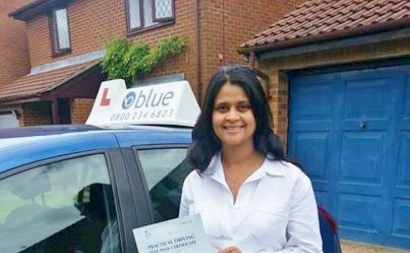 Many congratulations to Radhika Longbottom from Lower Earley for passing your test, FIRST TIME, at Reading
