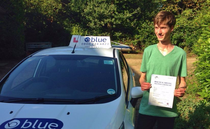 Great result for Robert Dickinson of Chavey Down, Ascot who passed his test driving test in Slough