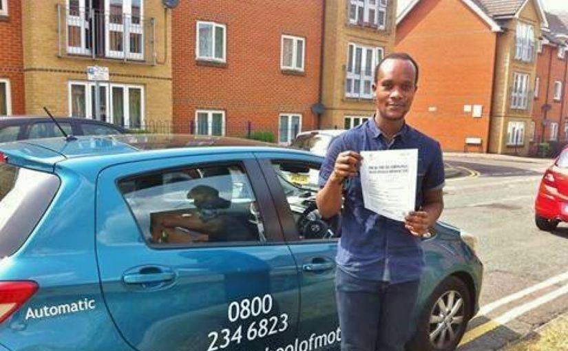 Congratulations to Meddy Barraball on passing the practical test in Reading