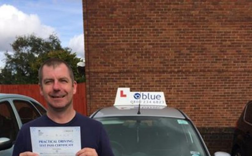 A huge congratulations to Terry Catlin from great Hollands on passing his driving test
