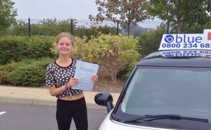 Congratulations to Sophie Palmer who passed her driving test in farnborough
