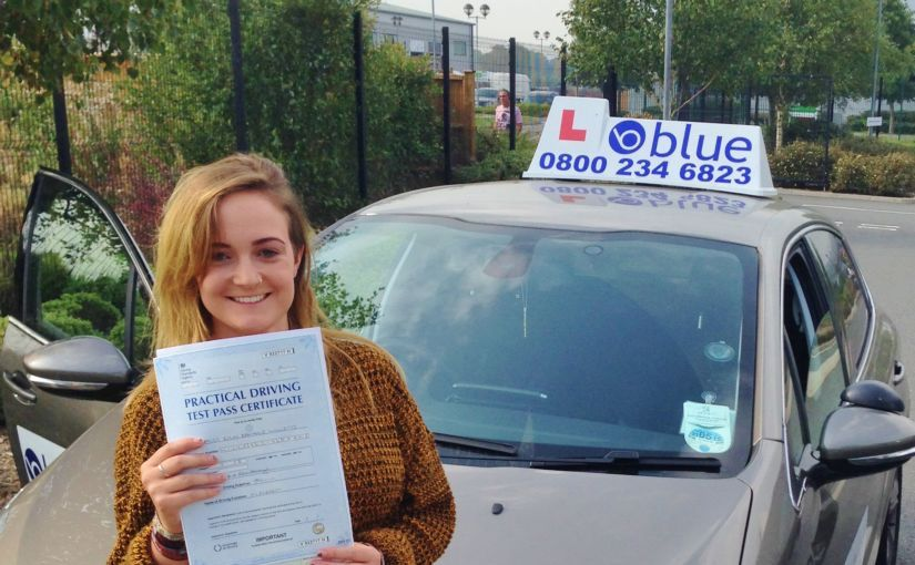 Great result for Erin from Little Sandhurst, Berkshire passed her driving test First Time with a just a few driver faults in Farnborough