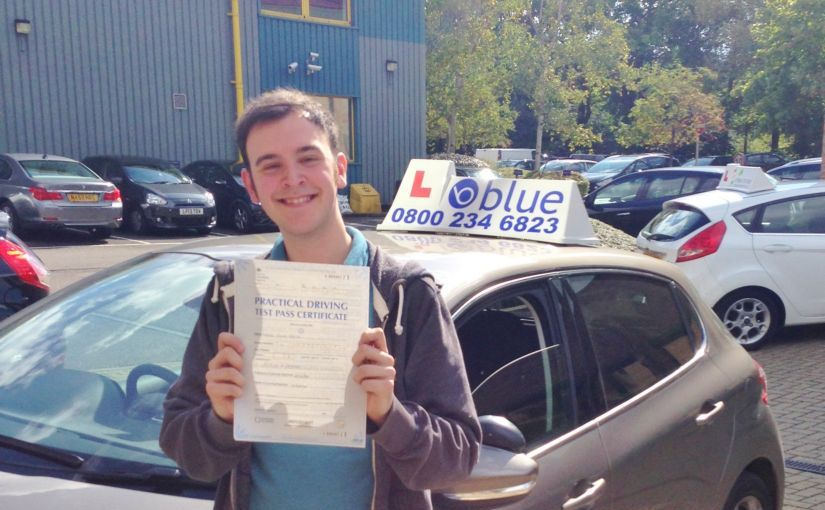 Great result for Sam Smith from Bracknell, Berkshire who passed his driving test First Time