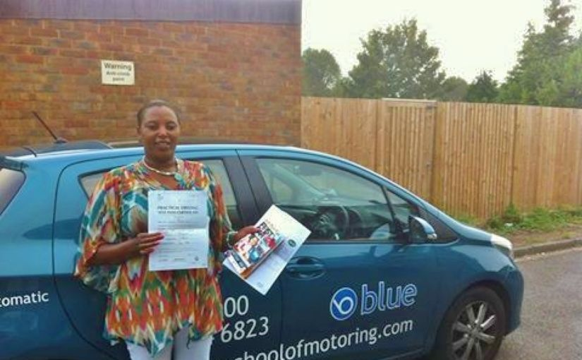 Donaa Nene has passed her practical test, in Reading