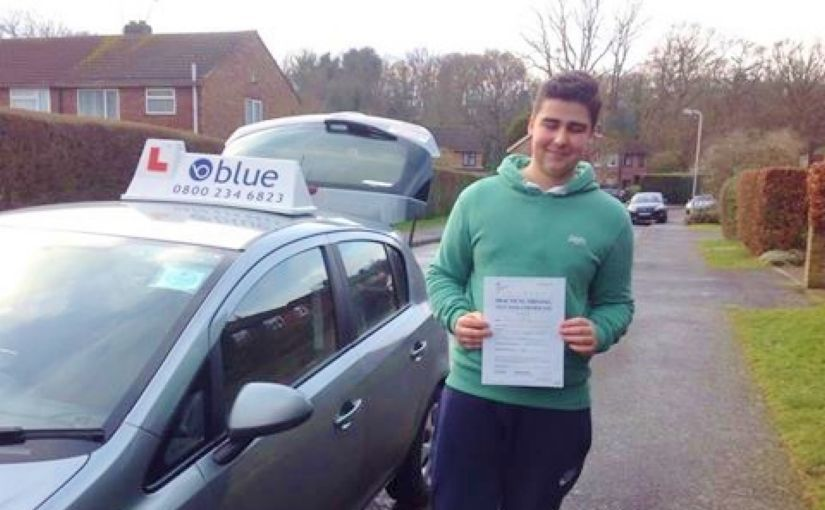 Congratulations Matthew Westbury on passing your driving test today