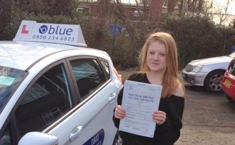 Well done to Hannah of Ascot, Berkshire who passed her driving test in Slough