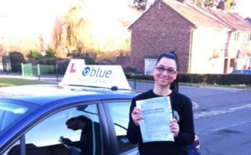 Huge congrats to Timea Vaczkan who passed her practical driving test today at Farnborough