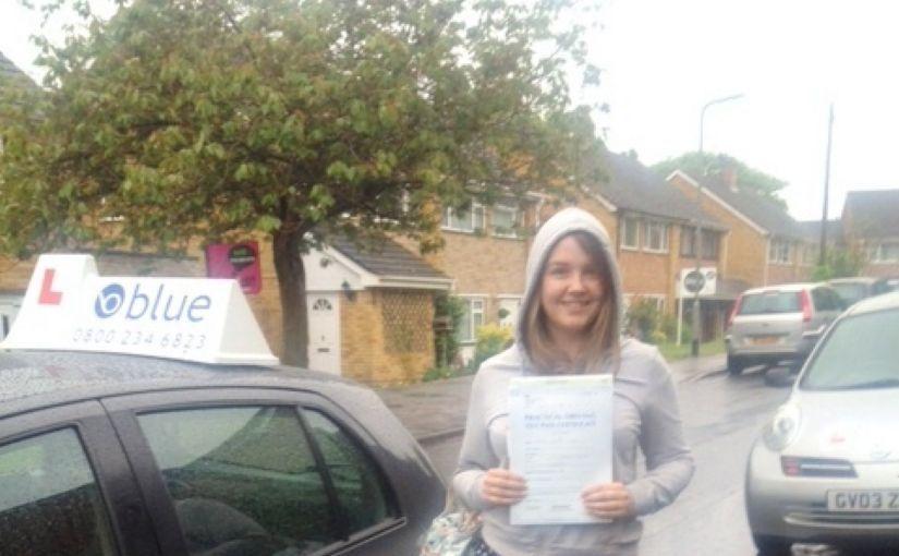 Great result for Rachel Warren of Winkfield Row, Berkshire passed her driving test 1st attempt