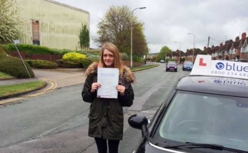 Congratulations to Sammy Drew on passing your driving test in Reading on your first attempt