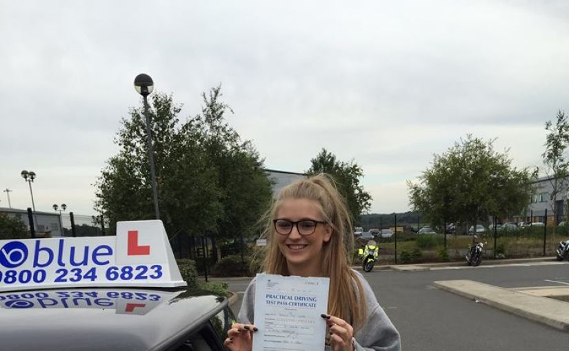 ongratulations to Jessica Homer on passing her driving test in Farnborough