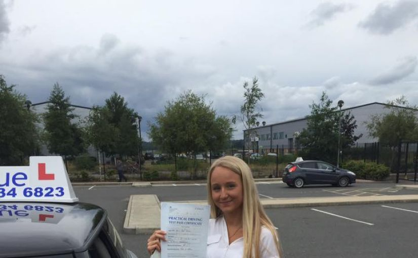 Congratulations to Holly Geall on passing your driving test in Farnborough