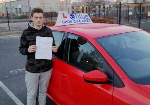 Aaron marsh just passed his driving test first time in Farnborough with one driving fault.