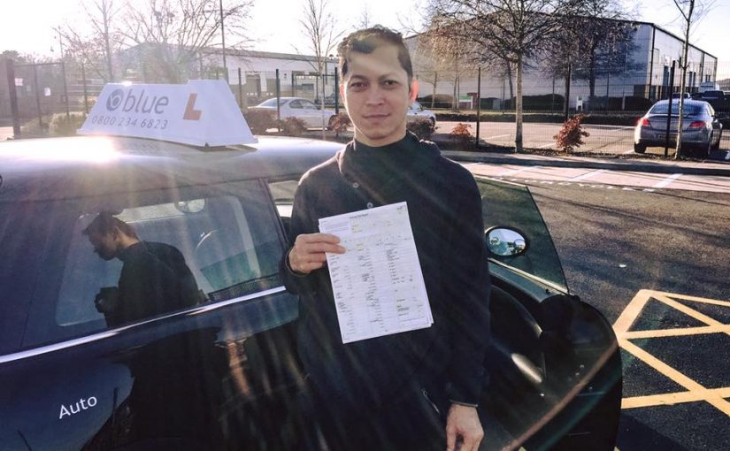 Congratulations to Ace from Farnborough who passed his driving test
