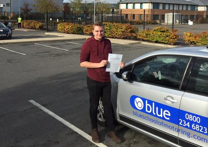 Well done to Alex McClarron from Finchampstead who passed his driving test this