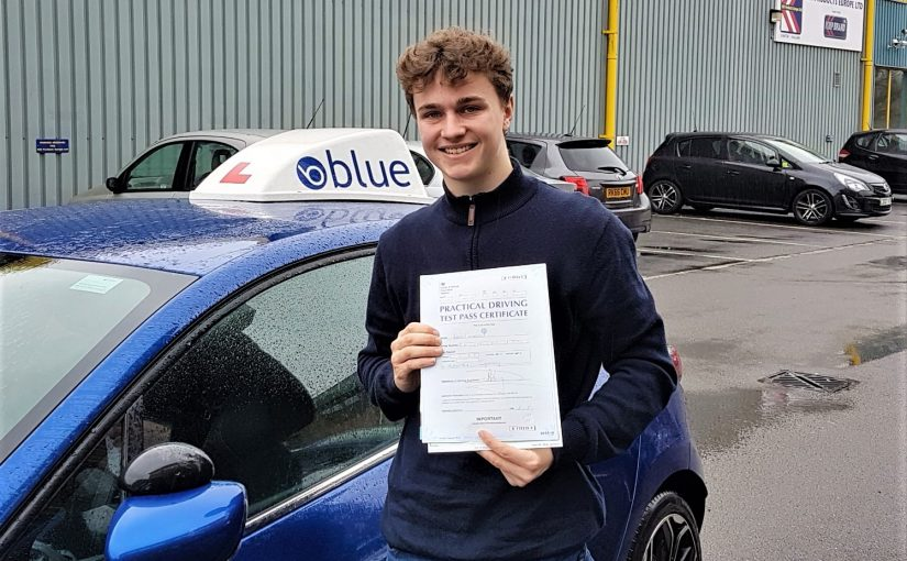 Luke Coleman of Ascot, Berkshire who passed his driving test with ZERO faults