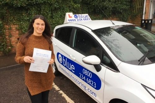 ZERO Fault driving test pass for Tayla Manhood of Ascot