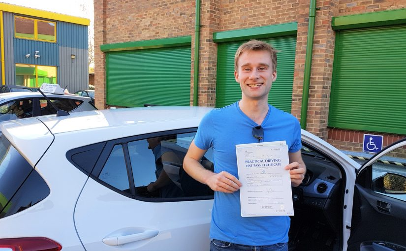Richard Sale of Ascot, Berkshire who passed his driving test FIRST time