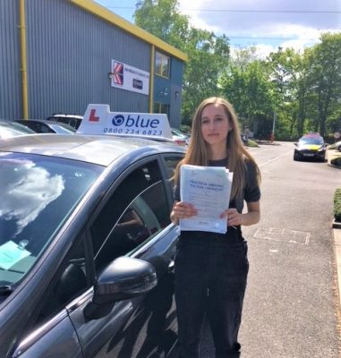 Ascot Driving test pass Gabby Jerram