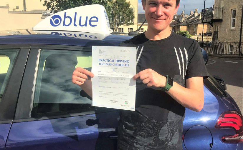 Mark Collier from Bath in Somerset passed his driving test