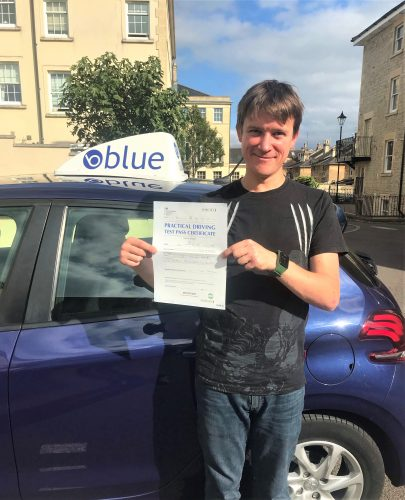 Bath Driving Test Pass for Mark Collier