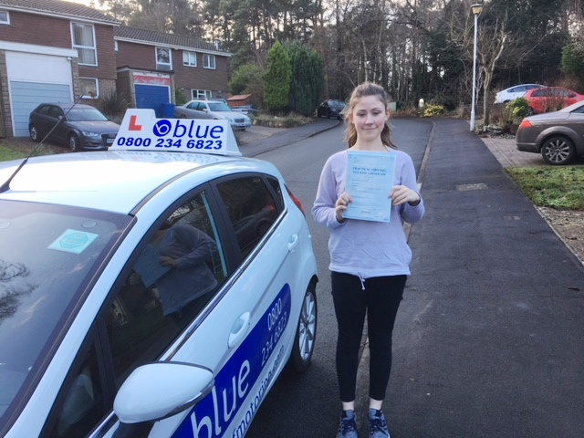 Great result for Becka Adams who passed her test in Chertsey