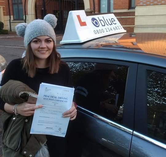 A brilliant result for Bethany Wigmore passed her test in Reading