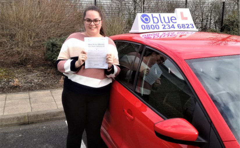 Hannah Coles of Blackwater Hampshire passed her driving test today at Farnborough