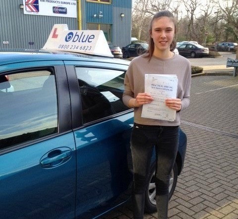 Congratulations to Sophie Edgar passed her test in Chertsey