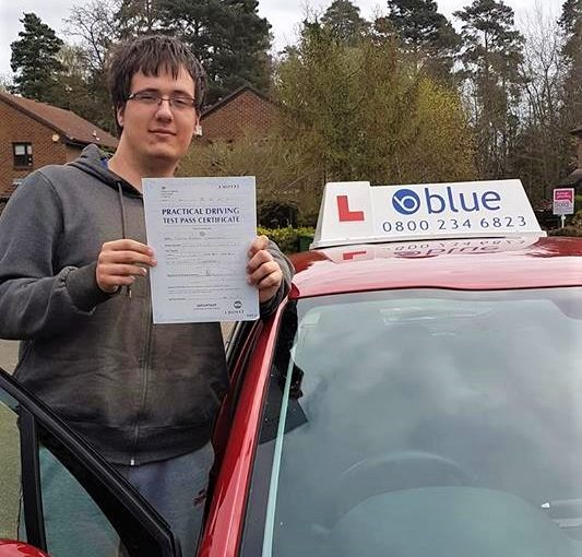 Congratulations Nathan on passing your driving Test first