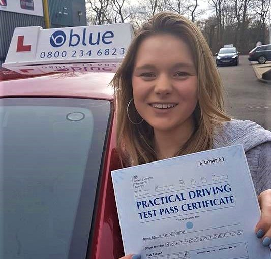 Huge shout out to Emily for passing her driving test first time