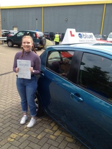 Brilliant result for Hayley Ness from Bracknell who passed her driving test