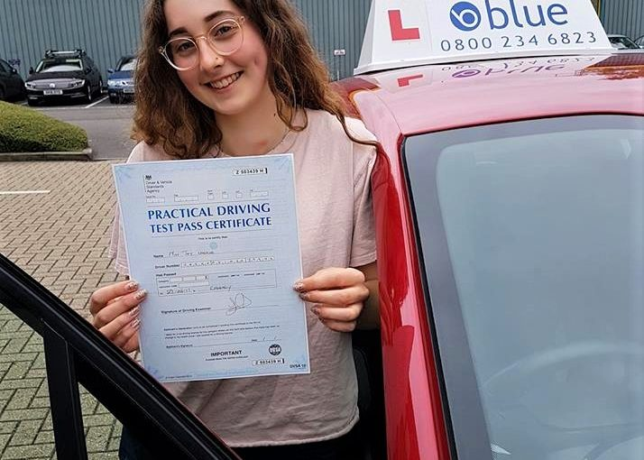 Congratulations Joy on passing driving test first time today at Chertsey