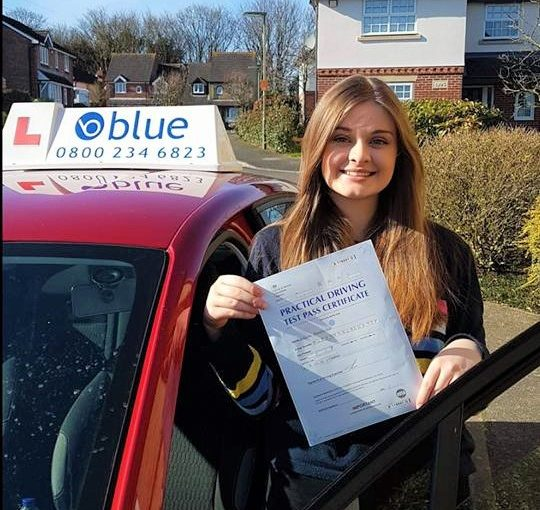 Congratulations Lilly on passing your practical driving Test today at Chertsey