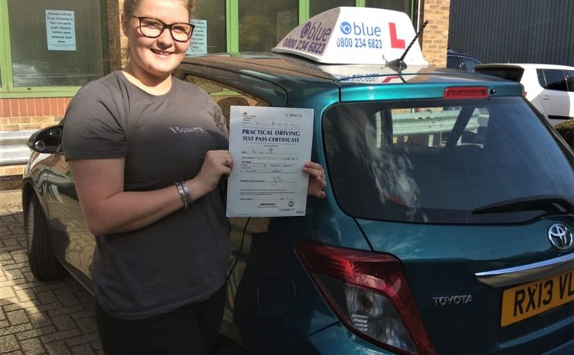 Ruby Cooper of Bracknell ,Berkhsire who passed her driving test FIRST Attempt
