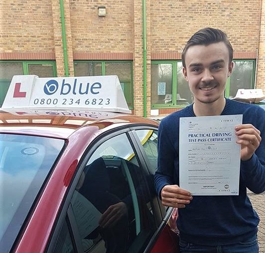 Congratulations Ryan from Bracknell on passing driving Test
