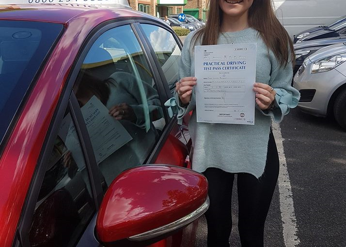 Congratulations Zoe from Bracknell on passing your driving Test