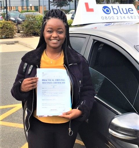 Congratulations to Anita Funani on passing her driving test in Farnborough