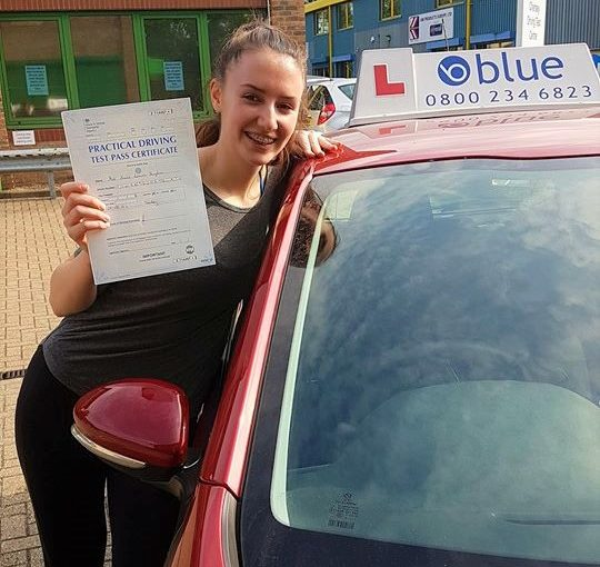 Annie passed your driving Test today at Chertsey