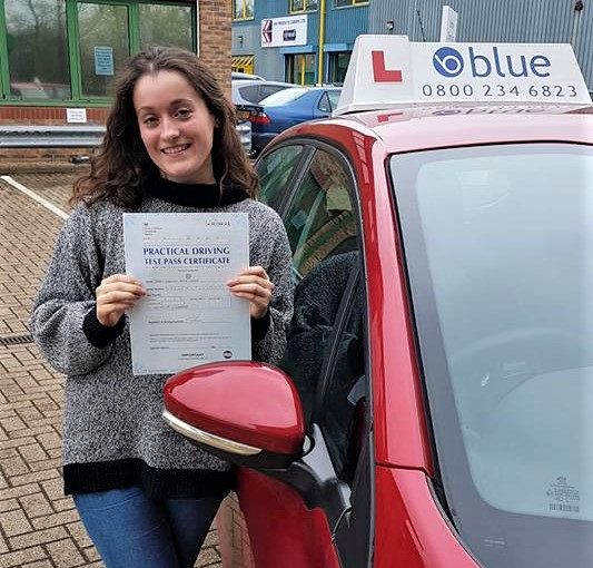 Frances passed her driving Test today