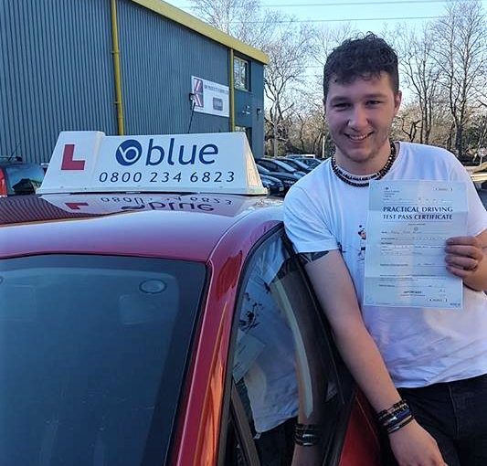 Congratulations Harry on passing your driving Test first time