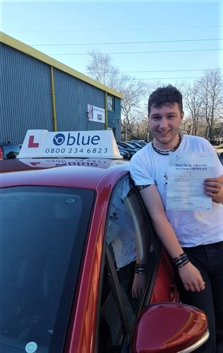 Bracknell Driving Test Pass for Harry Millis