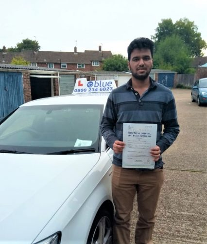 Bracknell Driving Test Pass for Ibrahim Mohammed
