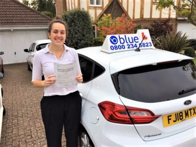 Bracknell Driving Test Pass for Justine Remillard